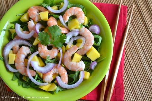 Mango, Shrimp and Arugula Salad - NotEnoughCinnamon.com