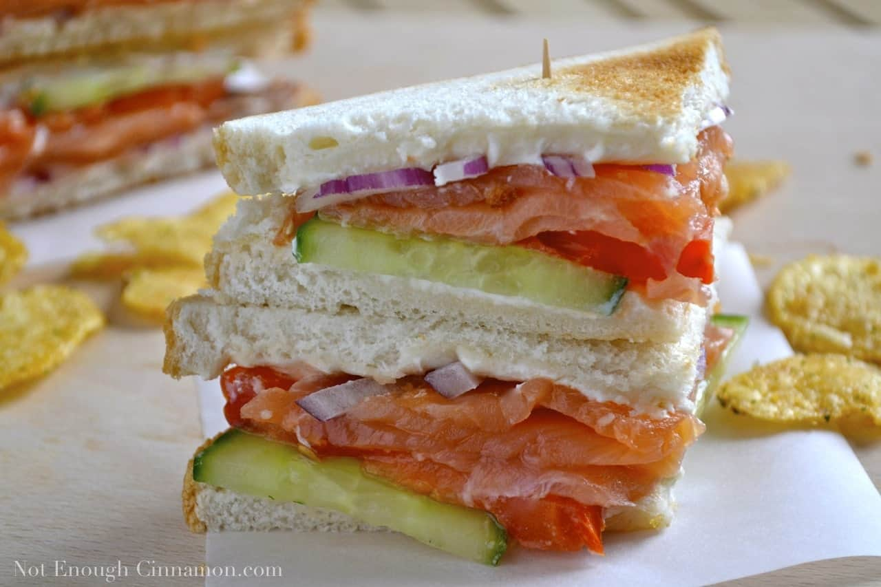 Smoked Salmon Club Sandwich