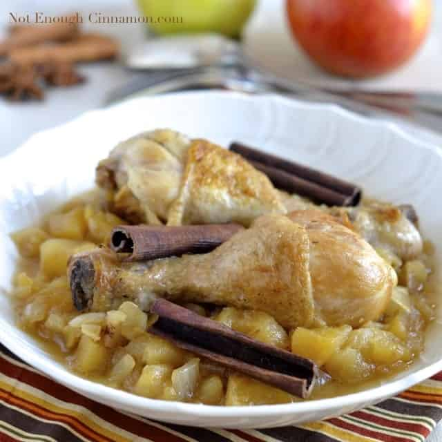 Chicken Stew with Apples and Cinnamon