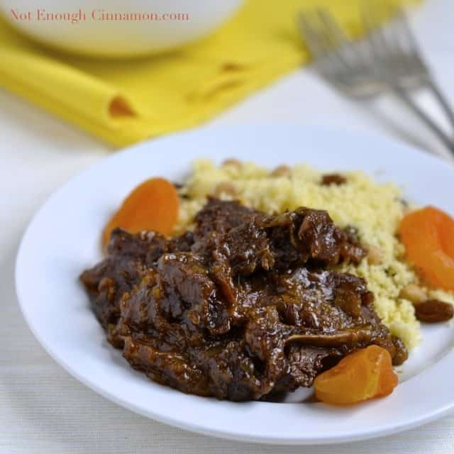 Delicious Lamb Tagine with Apricots - Not Enough Cinnamon