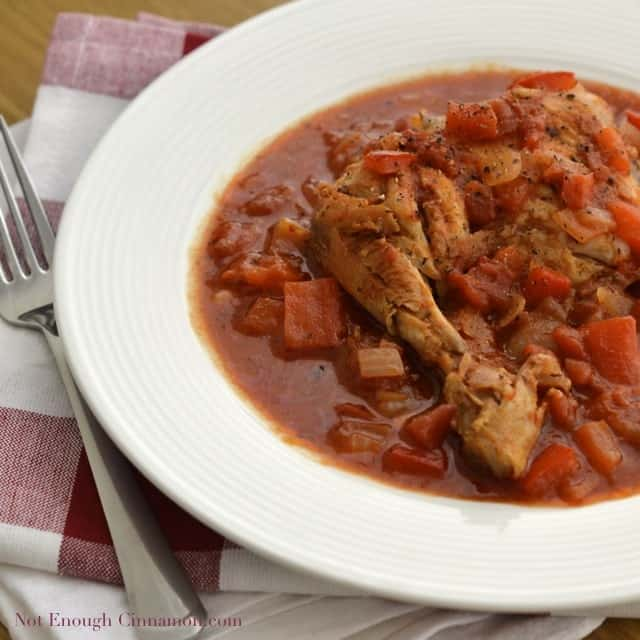 Poulet Basquaise (Pepper and Tomato Chicken Stew)