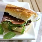 Prosciutto Sandwich with Fig, Pesto and Arugula