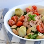 Tuna, Artichokes and Cherry Tomatoes Salad