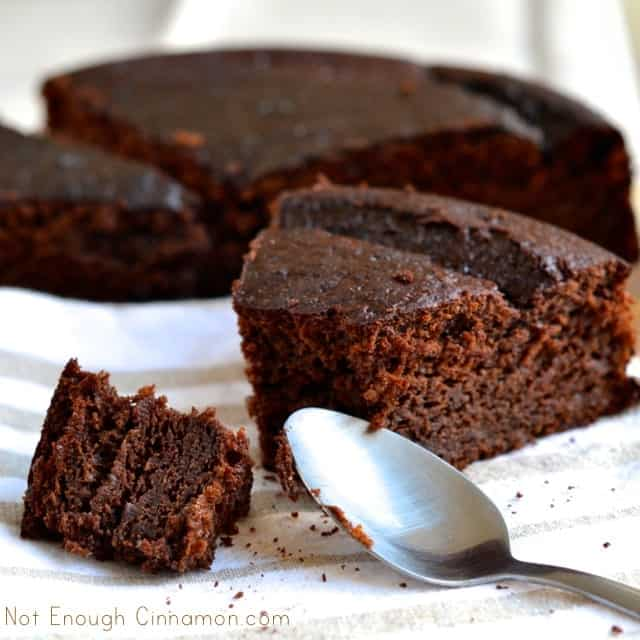 first wanted to call this cake lightened up breakfast chocolate cake ...