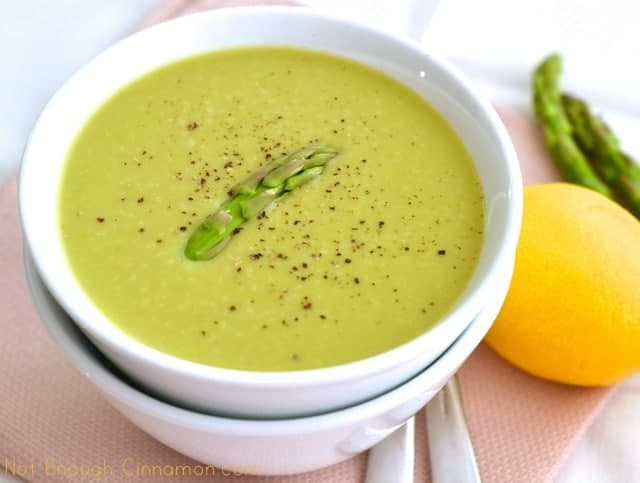 Skinny Cream of Asparagus Soup | sower sewer so her