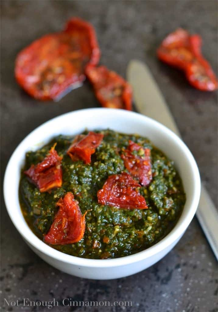 Basil and Sun-dried Tomatoes Pesto