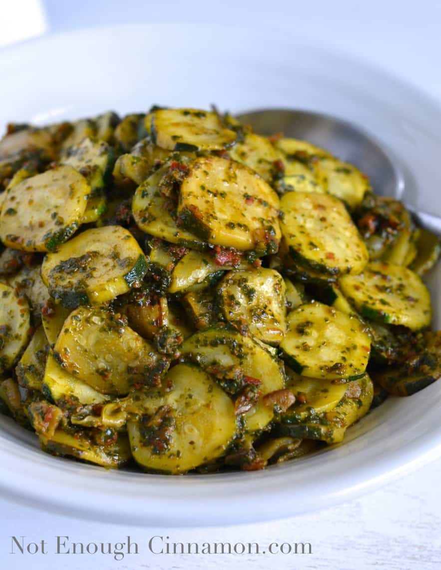 Lemon and Pesto Zucchini