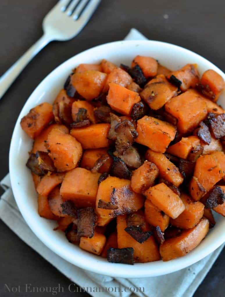 Bacon and Sweet Potato Skillet