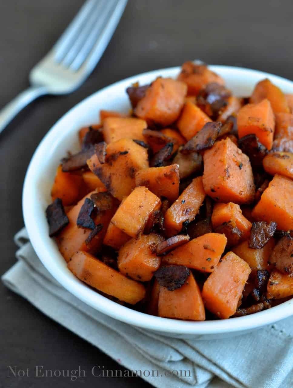 Bacon and Sweet Potato Skillet - Not Enough Cinnamon