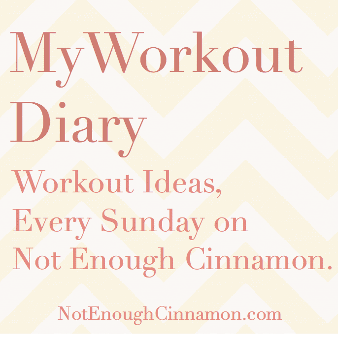 My Workout Diary. Workout Ideas, Every Sunday on Not Enough Cinnamon.com