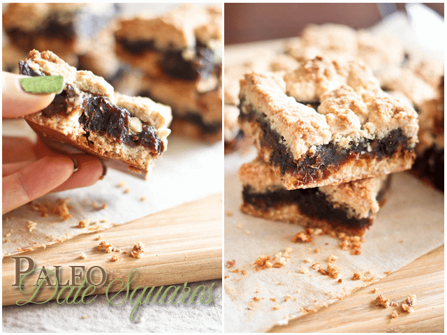 Paleo Date Squares - The Healthy Foodie