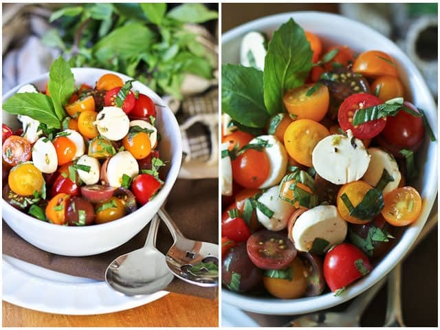 Quick Caprese Salad - The Healthy Foodie