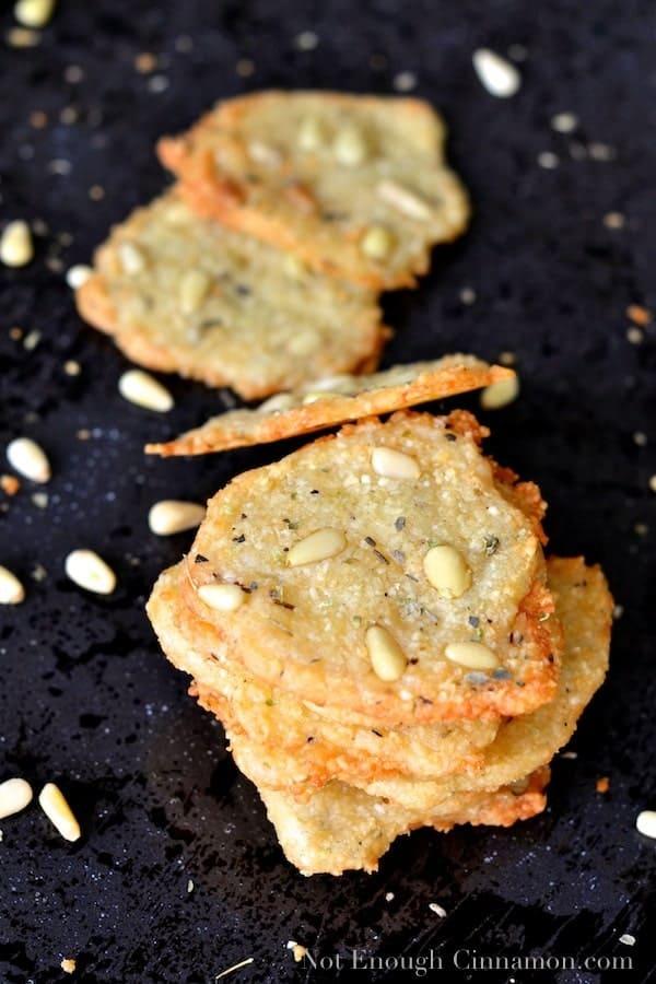 Parmesan, Oregano and Pine Nut Melts