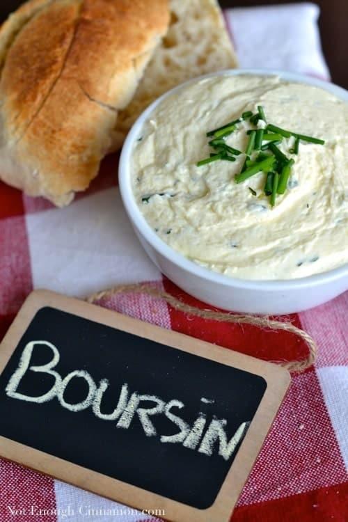 Homemade Boursin Cheese - NotEnoughCinnamon.com