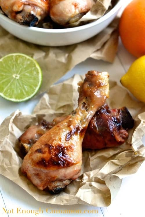 Citrus Chicken Drumsticks | notenoughcinnamon.com