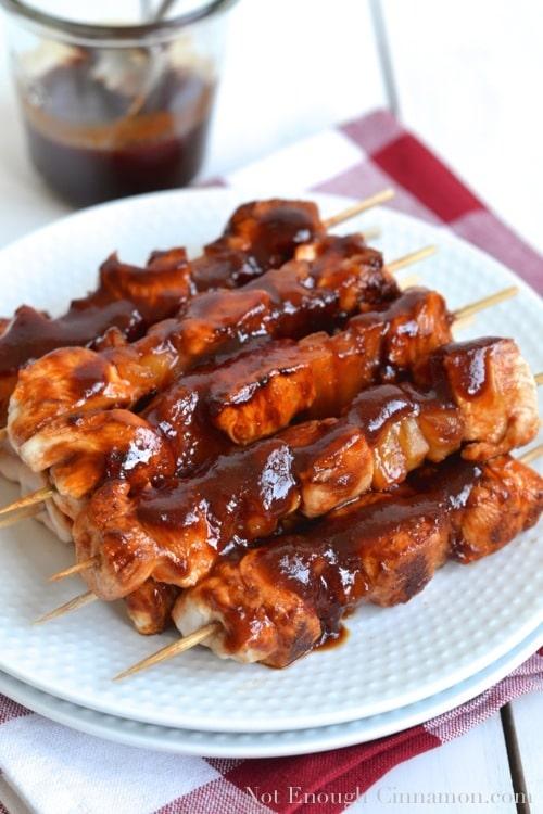 Chicken Pineapple Skewers - notenoughcinnamon.com
