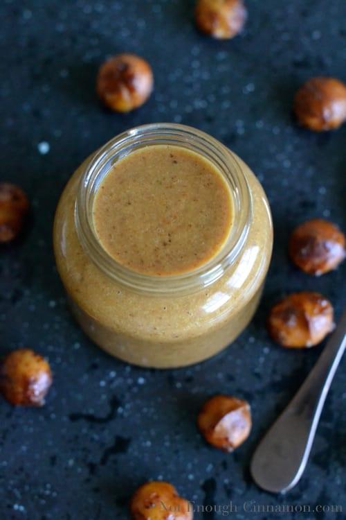 Honey Roasted Macadamia Nut Butter {from scratch} - notenoughcinnamon.com