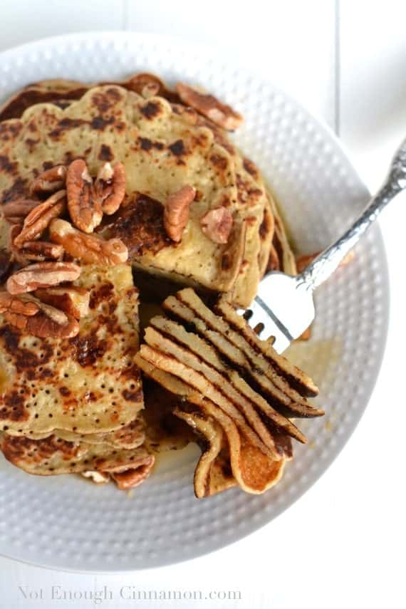 Gluten Free Banana Maple Pancakes {Refined Sugar Free} - NotEnoughCinnamon.com