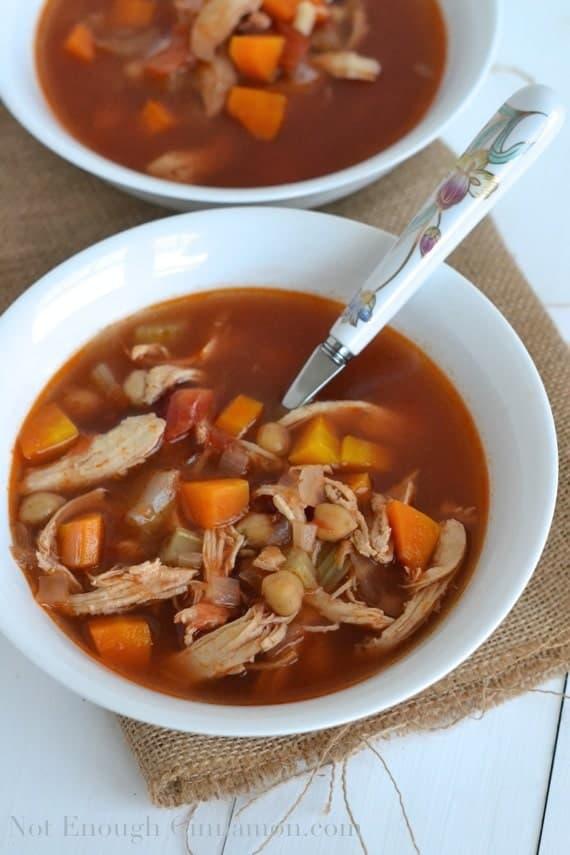 Winter Chicken Minestrone Soup - NotEnoughCinnamon.com