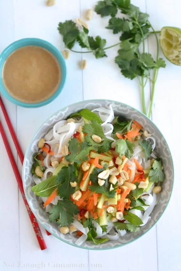Vietnamese Noodle Salad with Tahini Dressing - Not Enough Cinnamon