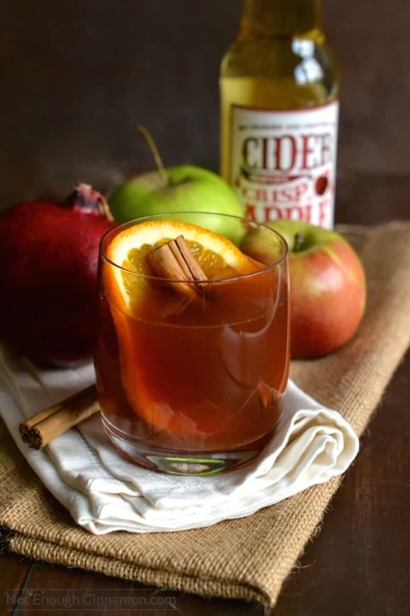 Pomegranate Spiced Apple Cider - Not Enough Cinnamon