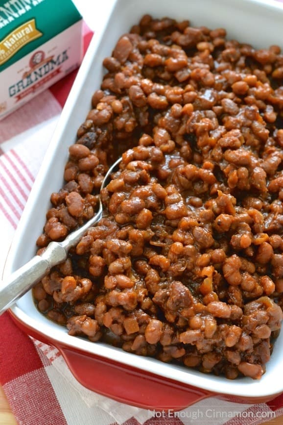 Slow Cooker Baked Beans - Not Enough Cinnamon