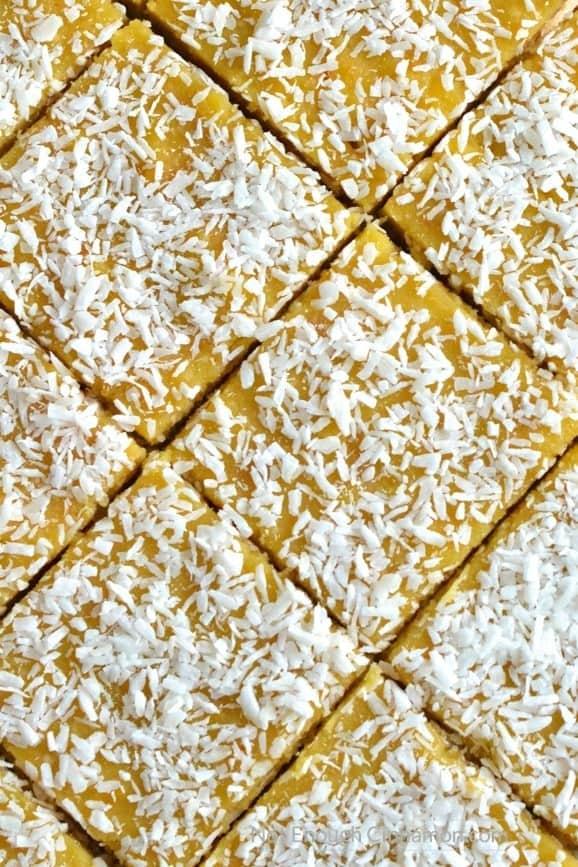 Paleo Orange Curd Coconut Bars | Find the recipe on NotEnoughCinnamon.com #glutenfree #healthy #dessert