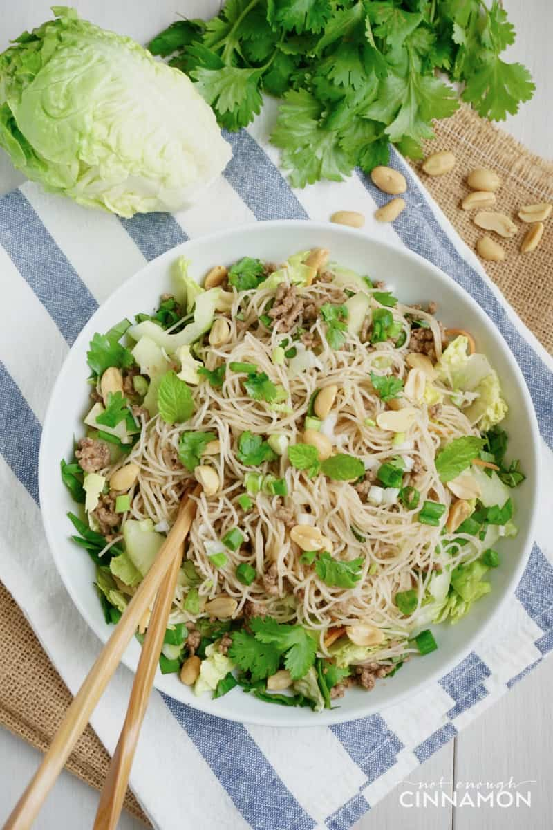 Vietnamese Beef and Rice Noodle Salad {Gluten Free + Dairy Free} - Not Enough Cinnamon